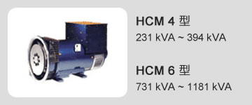 HCM 4 型 231 kVA ~ 394 kVA / HCM 6 型 731 kVA ~ 1181 kVA