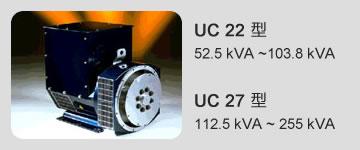 UC 22 型 52.5 kVA ~103.8 kVA / UC 27 型 112.5 kVA ~ 255 kVA